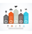 Business arrows infographic diagram graph vector image