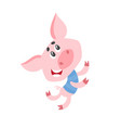cartoon pig character dancing isolated on white vector image