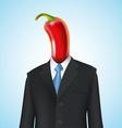 chili pepper man vector image