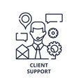 client support line icon concept client support vector image vector image