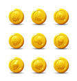 crypto-currency icons isolated on white background vector image vector image