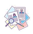curriculum vitae recruitment candidate job vector image
