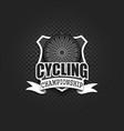 cycling logo template design vector image vector image