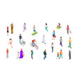 different people isometric persons kids men vector image