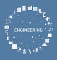 engineering icon set infographic template vector image