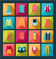 Fashion Clothes in flat design style vector image