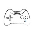 figure videogame console technology object to play vector image vector image