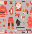 firefighter firefighting equipment firehose vector image vector image