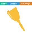 Flat design icon of School hand bell vector image