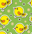 Floral and decorative background with birds vector image vector image