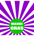 for Mardi Gras vector image vector image