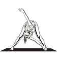 Girl doing stretching - vector image vector image