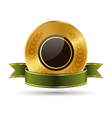 Golden Green Black Premium Quality Best Labels vector image vector image