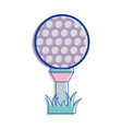 golf ball play game field vector image vector image