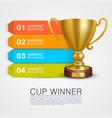 graphic information winner cup art vector image vector image
