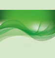 green background with wave vector image vector image