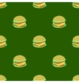 Hamburger Seamless Pattern on Green Background vector image vector image