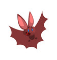 happy cartoon halloween bat character flying vector image vector image