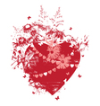 heart and flowers vector image