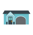 home garage facade structure outline vector image vector image