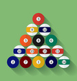 Icon of poll or billiard balls Flat style vector image vector image