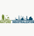 industry and nature concept vector image vector image