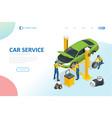 isometric car repair maintenance autoservice vector image vector image