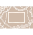 Lace ribbons card vector image vector image