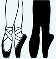 Legs and shoes of a young ballerina vector image vector image