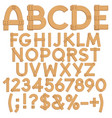 letters numbers signs from wooden boards vector image vector image