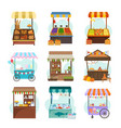local markets with different food flat vector image vector image