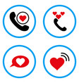 love heart message rounded icons vector image