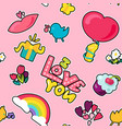 love seamless color pattern vector image vector image