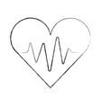 medical heart beat pulse rhythm cardio vector image