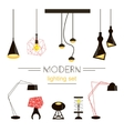 Modern light collection isolated on white vector image vector image