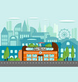 modern supermarket in an urban environment vector image