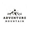 mountain adventure travel vintage retro rustic vector image