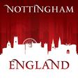 Nottingham England city skyline silhouette vector image vector image