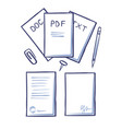 office papers and pages with signature vector image vector image