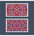 ornamntal pattern cards design vector image vector image