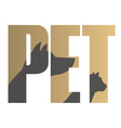 Pet sign vector image vector image