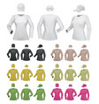 plain female long sleeve shirt template on white vector image vector image