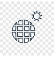 planet earth concept linear icon isolated on vector image