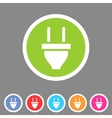 plug power energy icon flat web sign symbol logo vector image vector image