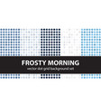 polka dot pattern set frosty morning seamless vector image vector image