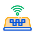 presence wi-fi in taxi online icon vector image vector image