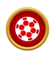 Professional soccer ball icon simple style vector image vector image