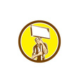 Protester Activist Union Worker Placard Sign vector image