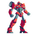red robot transformer and car cartoon vector image