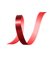 red spiral ribbon mockup realistic style vector image